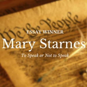 Essay Winner: Mary Starnes